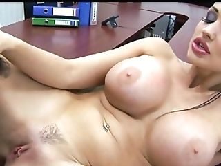 Big Euro Tits At Work