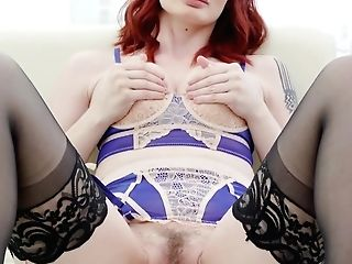 Red-haired Violet Monroe Ruined By Big Black Cock