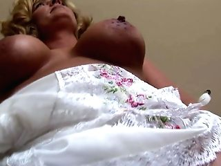 Matures Blonde Honey With Ideal Big Globes In Underwear