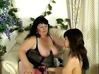 Russian Bbw Woman And Skinny Nymph Two