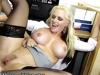 Devilsfilm Inserting Big Titty Cougar At The Office