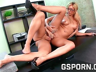 Huge-boobed Assistant Fuck Her Manager In The Office