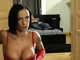 Fairly Big-chested Whore In Crimson Corset Mia Jordan Gets Her Brown Sphincter Drilled Well