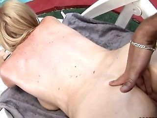 Lovely And Horny Monik Having Her Vag Penetrated On The Pool