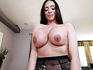 Colombian Pretty Brown-haired Ariella Ferrera Works Well On Strong Fat Big Black Cock