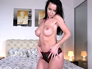 Jaw Ripping Off Brunet Cougar Cindy Buck Shows Off Her Big Faux Tits