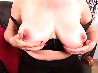 Granny With Big Tits Finger Fucks Her Sweet Matured Puss