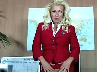 Hot Office Vagina Have Fun In Pantyhose
