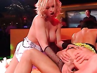 Lewd Audience Observes The Way Huge-chested Maria Mia And One More Whore Fuck