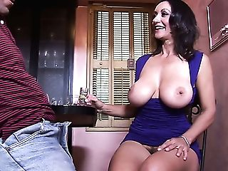 Lewd Barman Lures Big-chested Cougar Persia Monir For Some Steamy Fuck