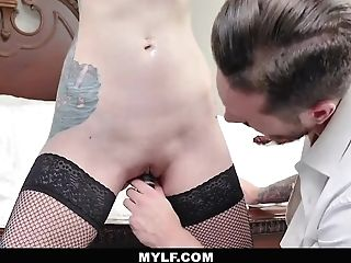 Mylfdom - Inked Up Cutie Tied Up For Hard Rough Fuck