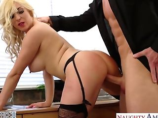 Fucky-fucky-cretary Victoria Summers Gives Her Head And Gets Fucked Right On The Table