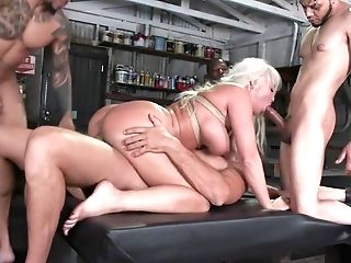 Immense Tits Cougar Double Penetration Group Banged