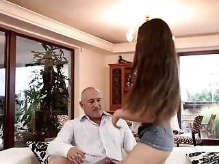 Daddy4k. Patriarch Opens Up Good-looking Chick While Sonny Is Not At Home