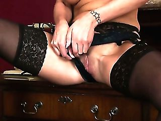 Amazing Huge-chested Black Head Cassie Clarke Plays With Her Bald Humid Cootchie