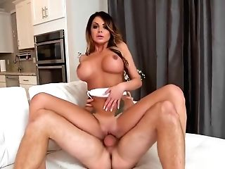 Big-titted Cougar Nikki Railing Big Schlong After Deep Throating