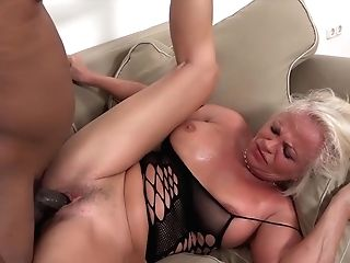 Milky Matures Has Numerous Orgasms During Hump With Black Man