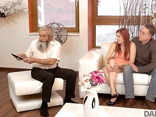 Daddy4k. Cutie Receives Good Penalty From Beau And..
