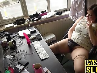 Horny Brown-haired And Chubby Cougar Laura Louise Solo Pleasure